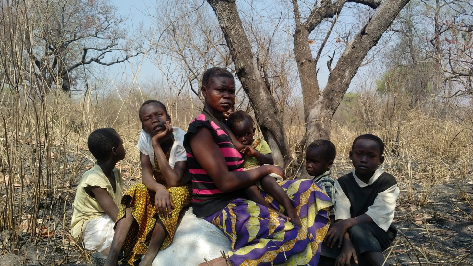 Sidah Hawa and her children fled conflict in South Sudan and reached safety in Uganda after traveling for two days.