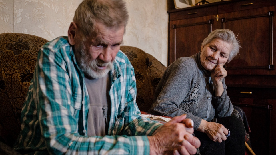 Like hundreds of thousands of elderly people in Luhanske, Hanna and her sick husband Oleksiy have faced social, financial and medical difficulties since the war began in eastern Ukraine in April 2014.