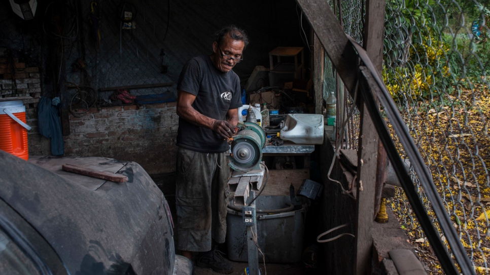 Ana's husband, Pablo, 58, works in a repair shop.