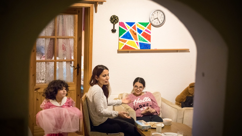 Daily life for Nujeen centres around the flat she shares with her brother, two sisters and four young nieces.