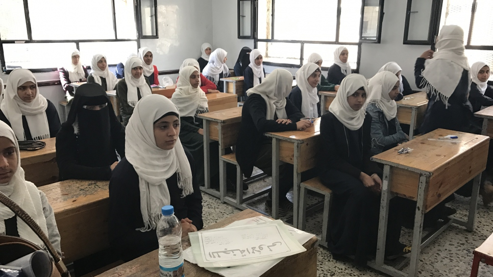 As a result of the conflict, many students in Yemen study without basic learning materials and resources.