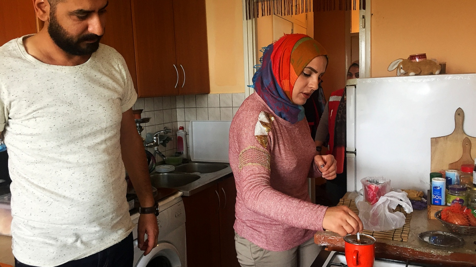 Wissam, 36, with his wife Shaemaa, 31.