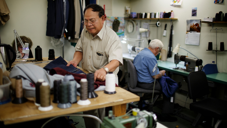 Tran Duc Tu, who fled Vietnam in 1977, has worked with Tom for 15 years.