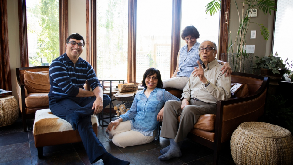 From left to right: Naeem, Sameena, Zarina and Mohamed Ali.