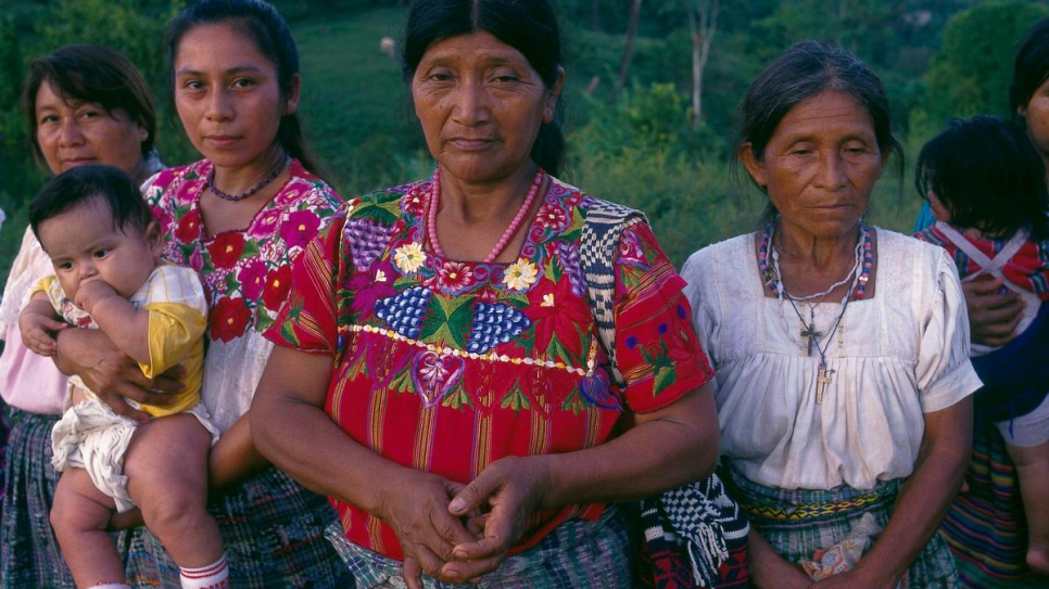 Returnee women in Guatemala in 1994.