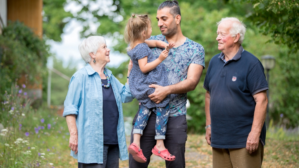 Mona and Kaj are Finnish pensioners who have assumed the role of grandparents for 3-year-old Diana, a refugee from Iraq who arrived on the Finnish island of Nagu in 2015. Diana and her father, Azaldeen, fled Iraq after her mother was abducted.