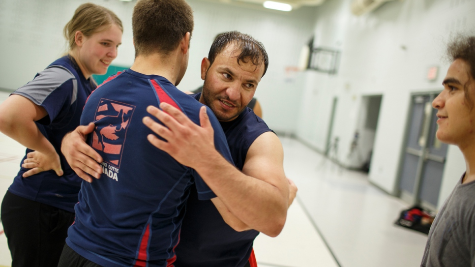 Mohammed is the Canadian capital's only Arabic-speaking wrestling coach.