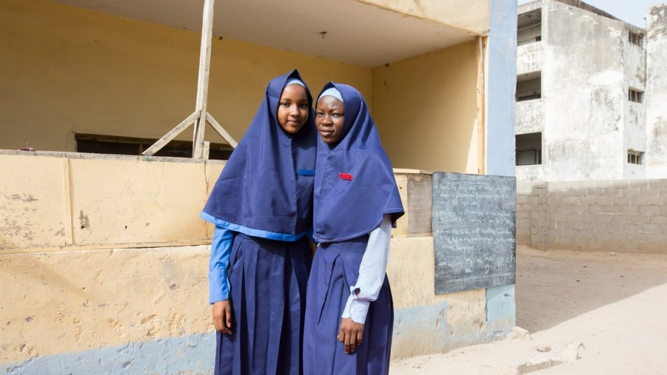 Zeinab Ibrahim, 16, and Fannah Mohammed Ali, 16, thought their education was over after Boko Haram violence almost ruined their lives.