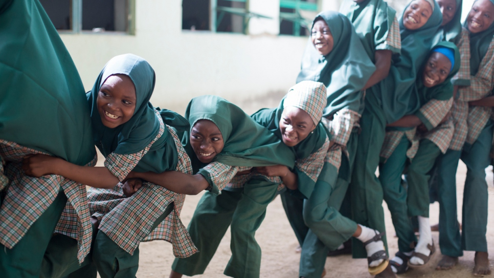 Students of Future Prowess Islamic Foundation School 1 enjoy some exercise during break time.