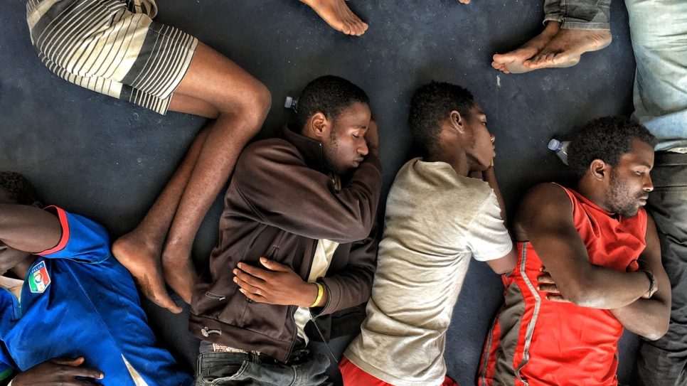 In Libya, refugees and migrants find they are caught up in a cycle of abuse, violence and exploitation.