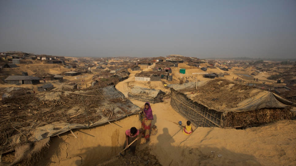 Newly arrived Rohingya families build new homes wherever they can in Cox's Bazar, Bangladesh, away from the overcrowded makeshift sites that have received tens of thousands since October 2016.