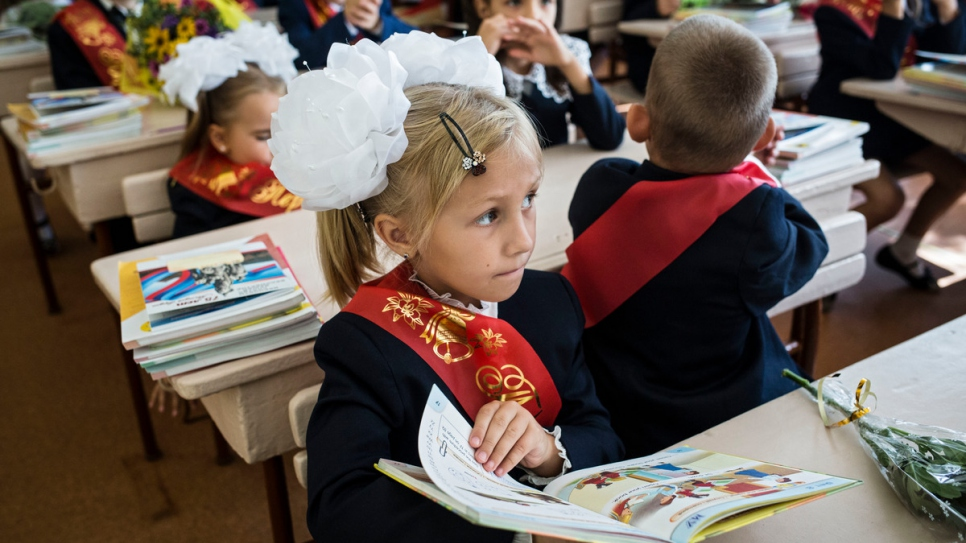 The conflict in Ukraine has cost more than 10,000 lives and damaged at least 700 schools.