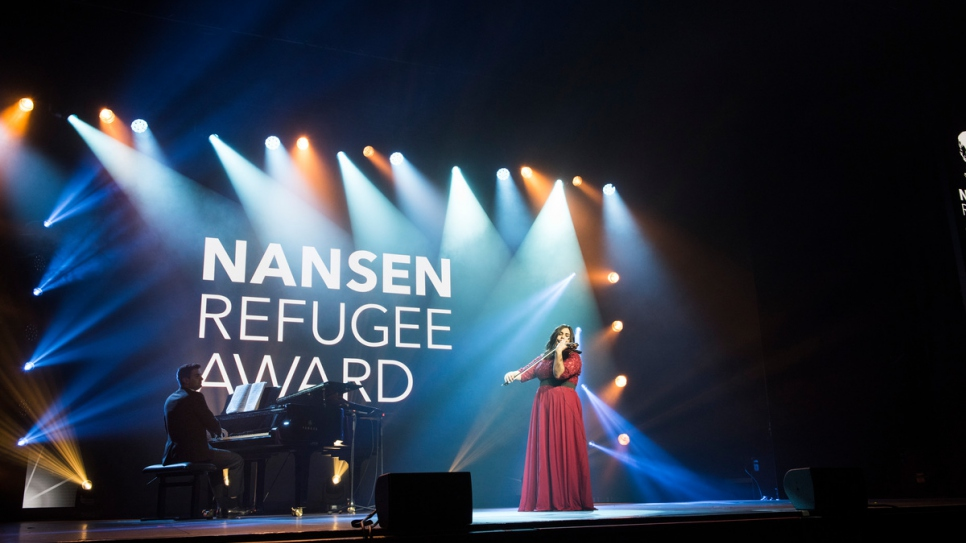 Syrian refugee and accomplished violinist Mariela Shaker performs Meditation Thais by Jules Massenet with Syrian British pianist, Riyad Nicolas.