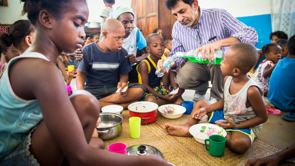 Aziz Asgaraly from Mahajanga, Madagascar, helps poor Malagasy children and orphans at Karana community funded projects.