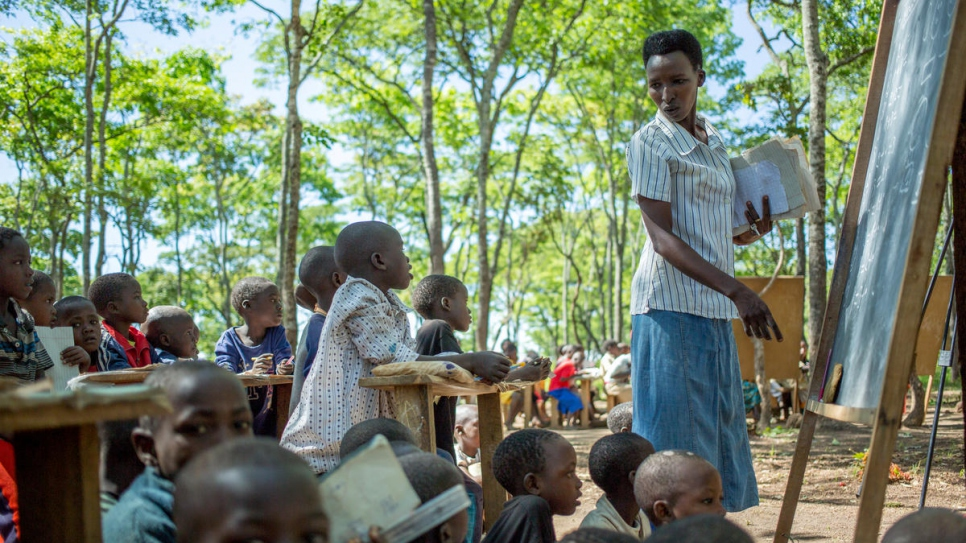 Around 200 refugee children attend Furaha Primary School.