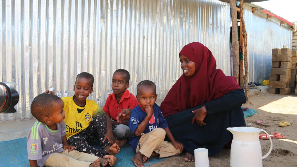 Fadumo, who was born in Dadaab refugee camp in Kenya, has returned to her homeland of Somalia with her children.
