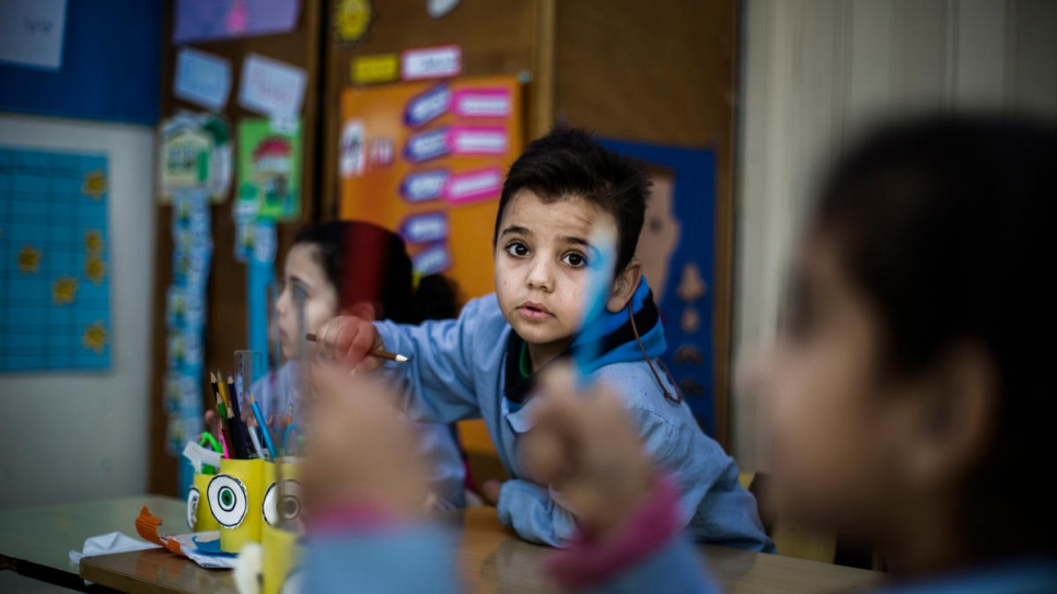Mohammad attends lessons at the Father Andeweg Institute for the Deaf (FAID) near Beirut, Lebanon.