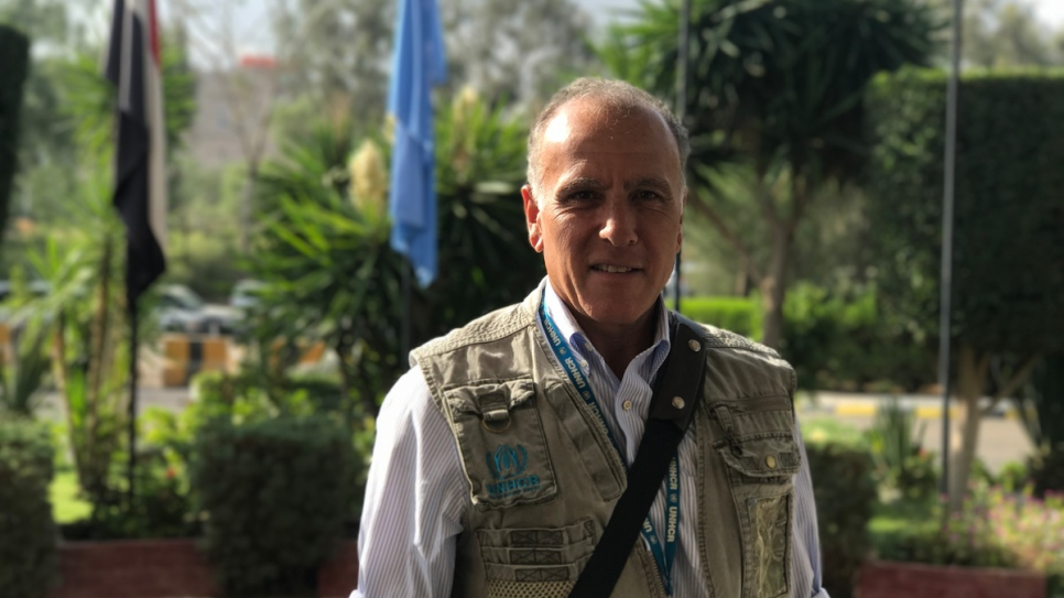 Portrait of UNHCR's Representative in Yemen, Ayman Gharaibeh.