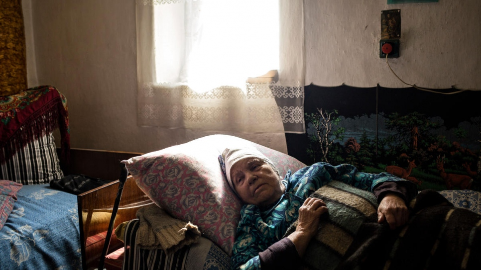 Svetlana Shuko can barely leave her bed and struggles to receive her pension.