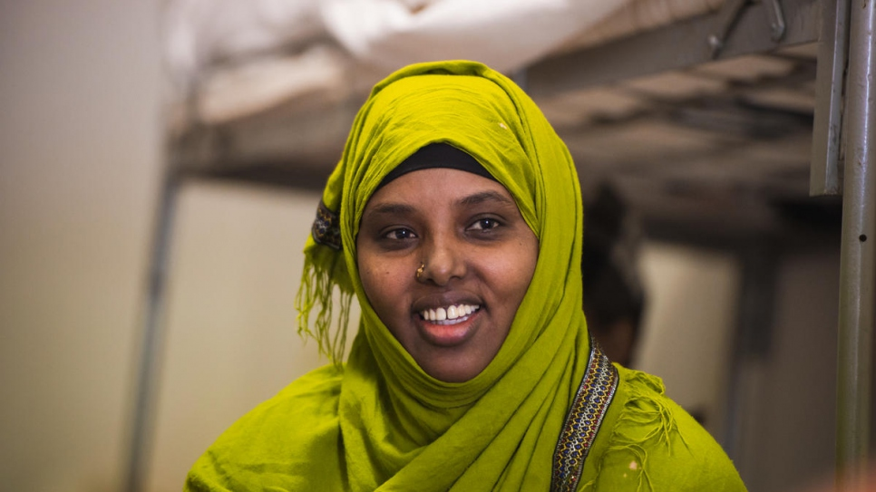 Ruqia, 42, from Somalia, spent 12 years as a refugee in Syria. She now lives in Bradford, United Kingdom with her three teenage daughters.