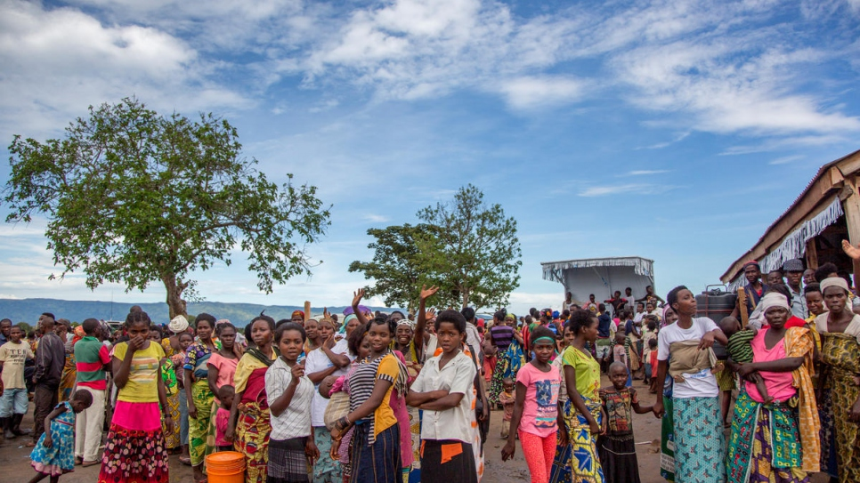 Burundi refugees at Mulongwe refugee camp in South Kivu, DRC.