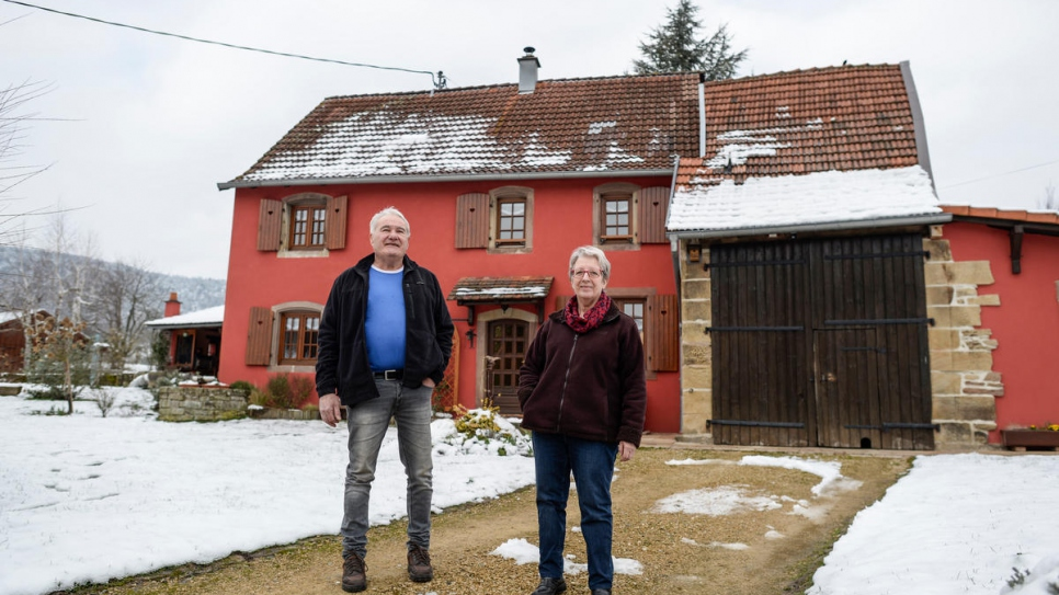 Pierre and Denise Berret, who live across the road from the convent, are always ready to lend a neighbourly hand.
