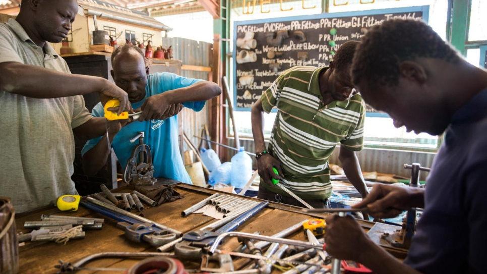 The plumbing department at Don Bosco Technical Institute, Kakuma refugee camp.