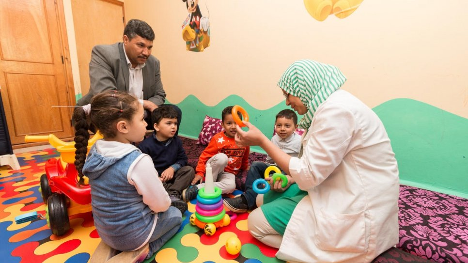 A total of 25 Moroccan and Yemeni children attend the kindergarten