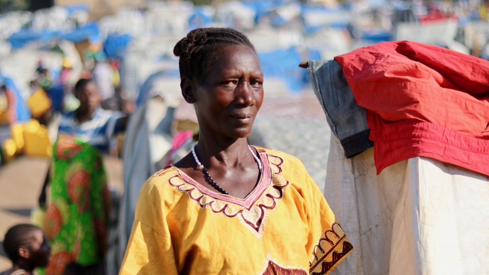 Pascaline fled her village of Dese in February, with her four grandchildren. They are now living in the General Hospital displacement site in Bunia.