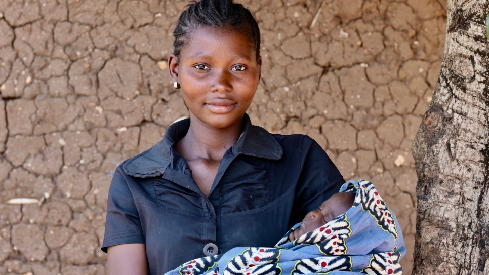Rith fled the town of Largu in January with her three children. She recently returned to the Djugu territory but has not been able to return home.