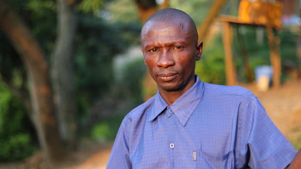 Gabriel, 43, lives in Beni's Madiabuana neighbourhood. He fled violence twice before recently settling in the Madiabuana neighbourhood of Beni with his family. They host eight internally displaced families in the annex of the house they rent.