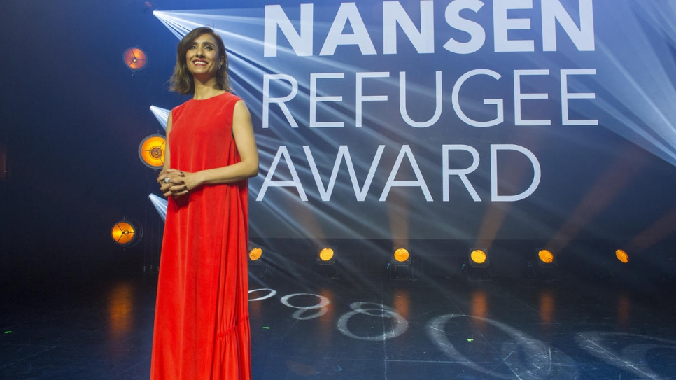 British television presenter Anita Rani hosted the Nansen Refugee Award Facebook Live during the ceremony.