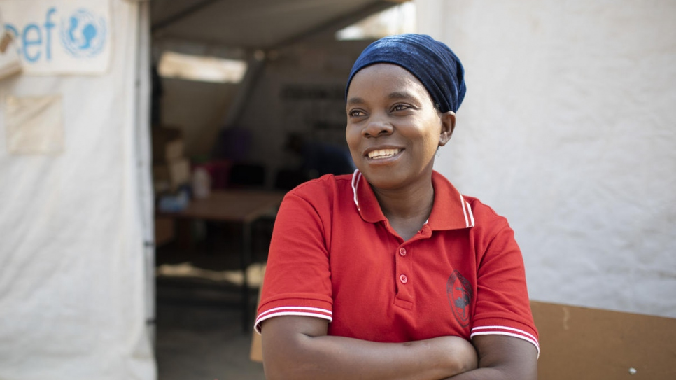 "Judith Mwansa, 50, is a Zambian nurse who works at the clinic in Mantapala Settlement. ""We've seen and treated thousands of people,"" she says."