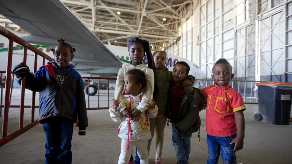 Children were among the 132 refugees and asylum-seekers flown to Niger on Thursday.