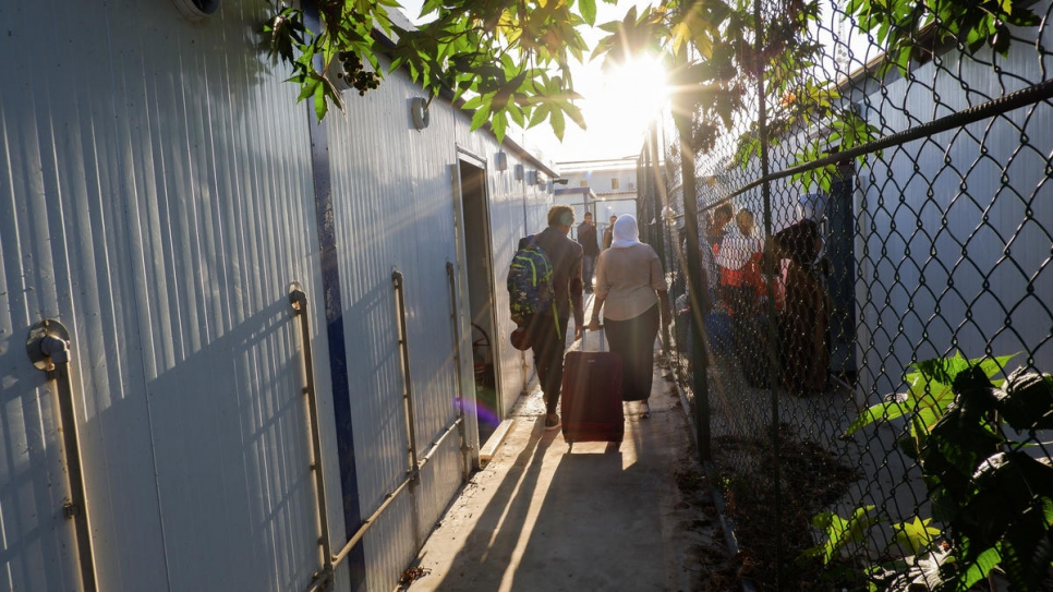 First group of refugees evacuated from new departure facility in Libya