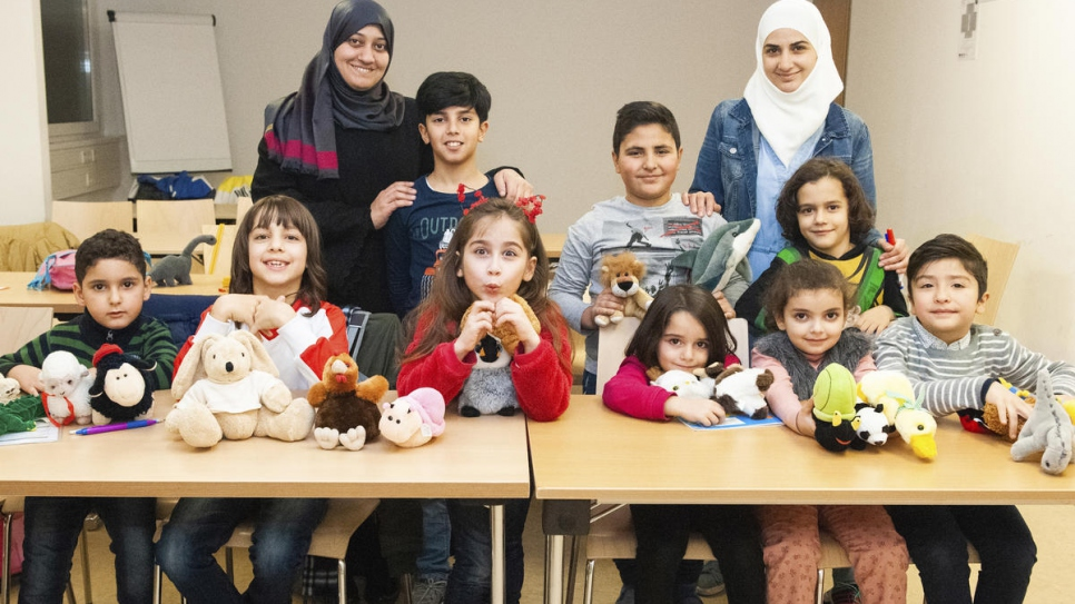 Widad Alghamian's Arabic language class, which ensures refugee children do not forget their own culture while integrating in Austria.
