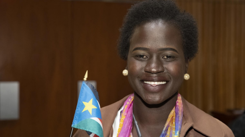 Pihcintu choir member Nyawal Lia, 24, from South Sudan.
