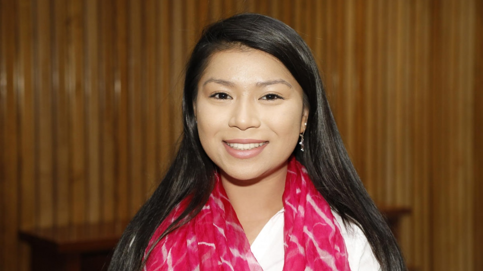 Bridget Duong, 22, is the most veteran active  Pihcintu choir member. Her family is from Cambodia.