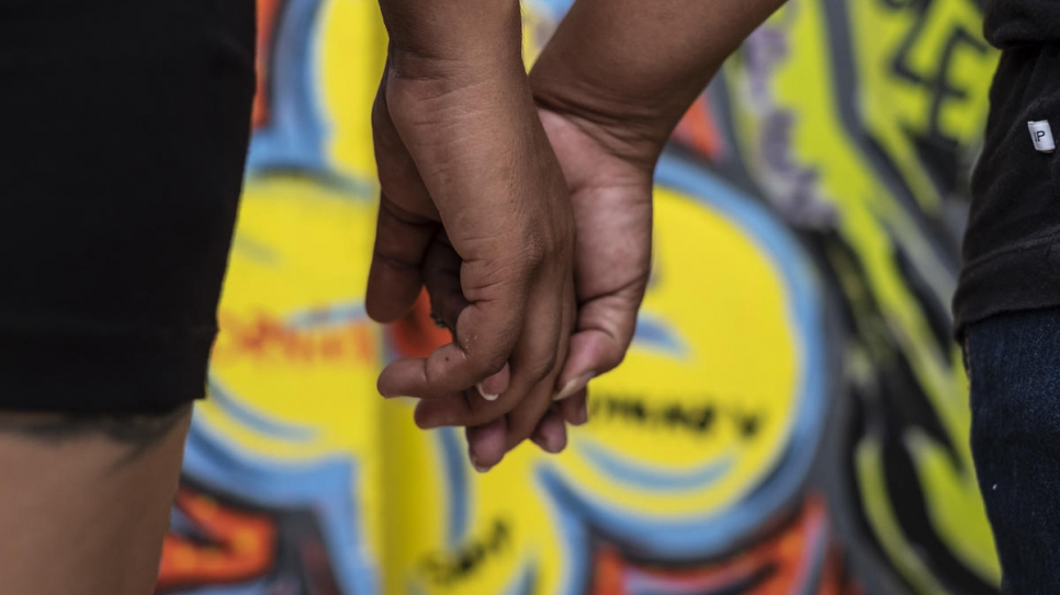 Two dozen asylum seeker women from north Central America painted a mural in Tapachula, Mexico marking the 16 Days of Activism against Gender-Based Violence.