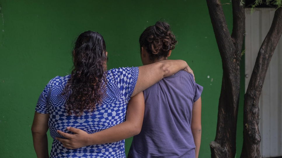 Janeth, 45, and Alma, 13, fled El Salvador after Janeth's 17-year-old son was killed by a criminal gang in El Salvador and the group threatened to kill her daughter Alma as well.