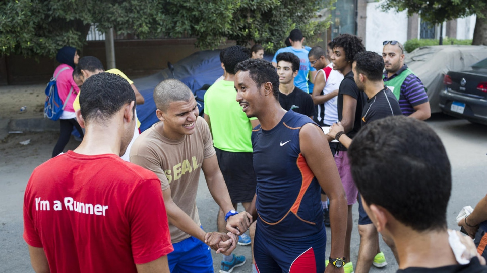 Guled has been an active member of the Cairo Runners Club for several years.