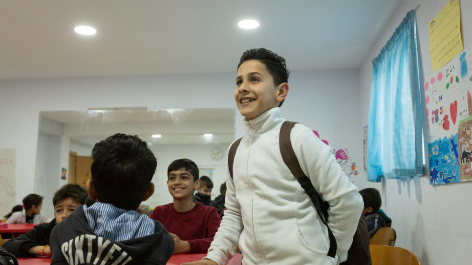 Alan, 11, from Iraq, is one of around 100 displaced children who attend KEDU.