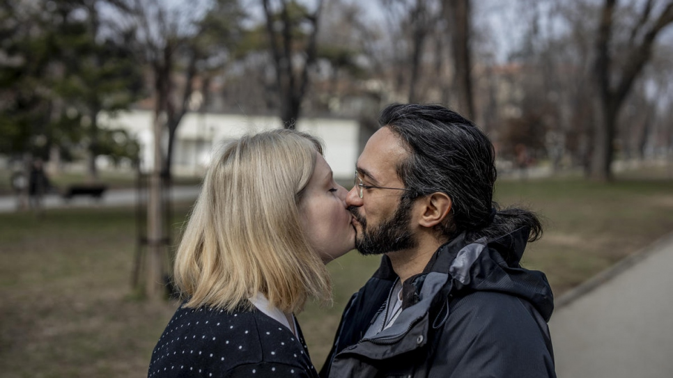 "Ida was walking her dog in a Belgrade park when she first met Mawaheb. ""From the moment Mawaheb and I met, we were together all the time,"" she says. ""We felt as if we knew each other."""