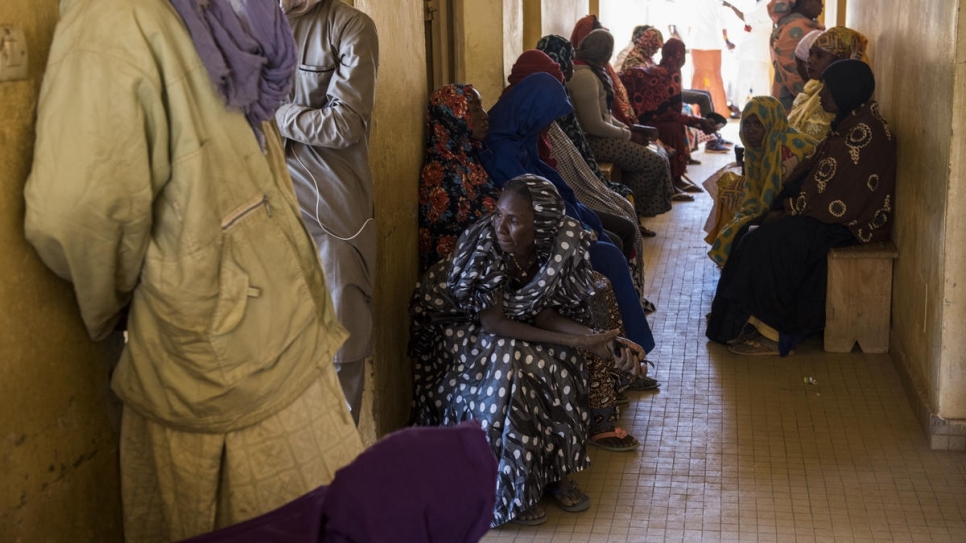 Patients wait for consultations at the general hospital, which has 11 doctors and 61 nurses to serve a region of nearly 550,000 residents.