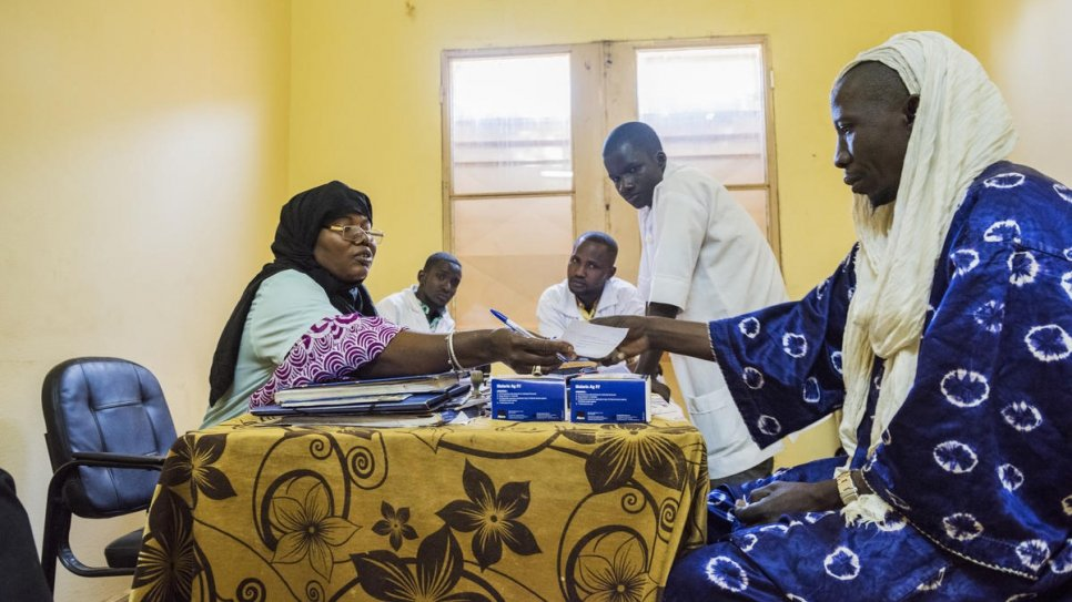 Jamilla Amadou treats patients at the Centre de Santé de Référence hospital in Gao.