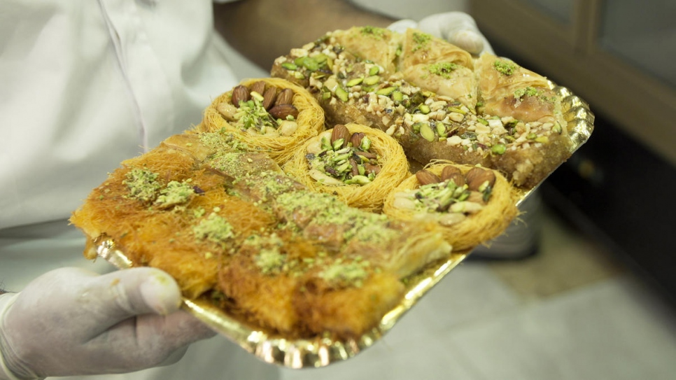 Abdullah Bashir is from a family of renowned pastry chefs in Damascus.