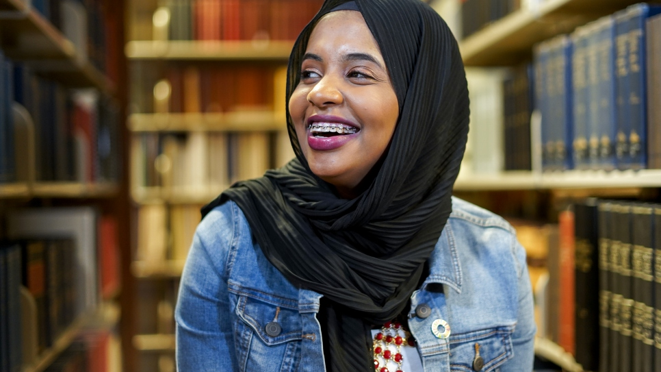 Children's book author and former Somali refugee Habso Mohamud visiting a local library in Washington, D.C.
