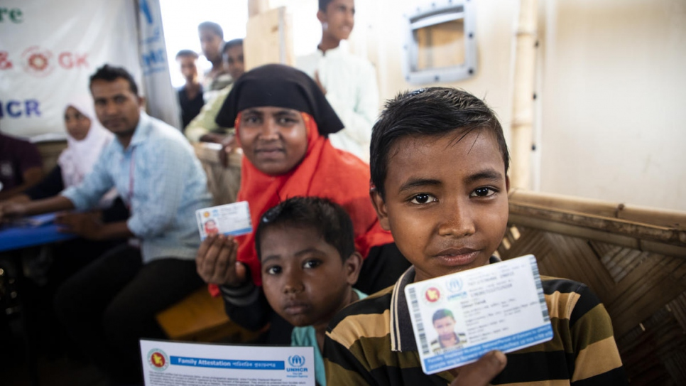 Registration gives many Rohingya refugees identification for the first time