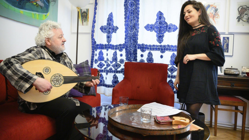 Syrian singer Basma Jabr, 35, and Lebanese-Palestinian oud player