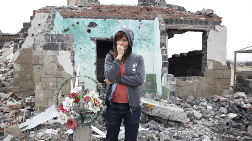 Helena Christensen photographs the urban environment in Sloviansk, which is still heavily damaged following the recent conflict in Ukraine.
